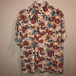 Disney Cast Member Exclusive Hawaiian Mickey Shirt